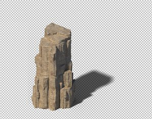 cave rock mountain 3D model