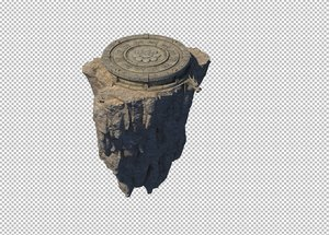 3D cave rock mountain model