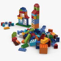 3D model duplo set lego