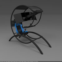 computer gaming chair ultimate 3D model