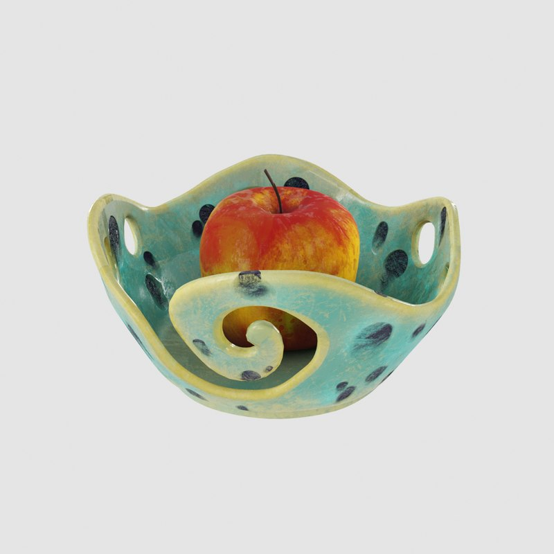 3D fruit pottery ceramic wave