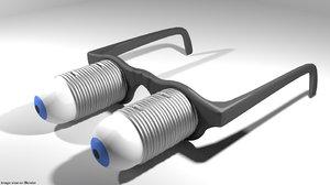 3D eyeglasses novelty pop-up