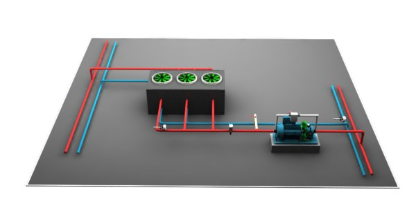 3D water source heat pump