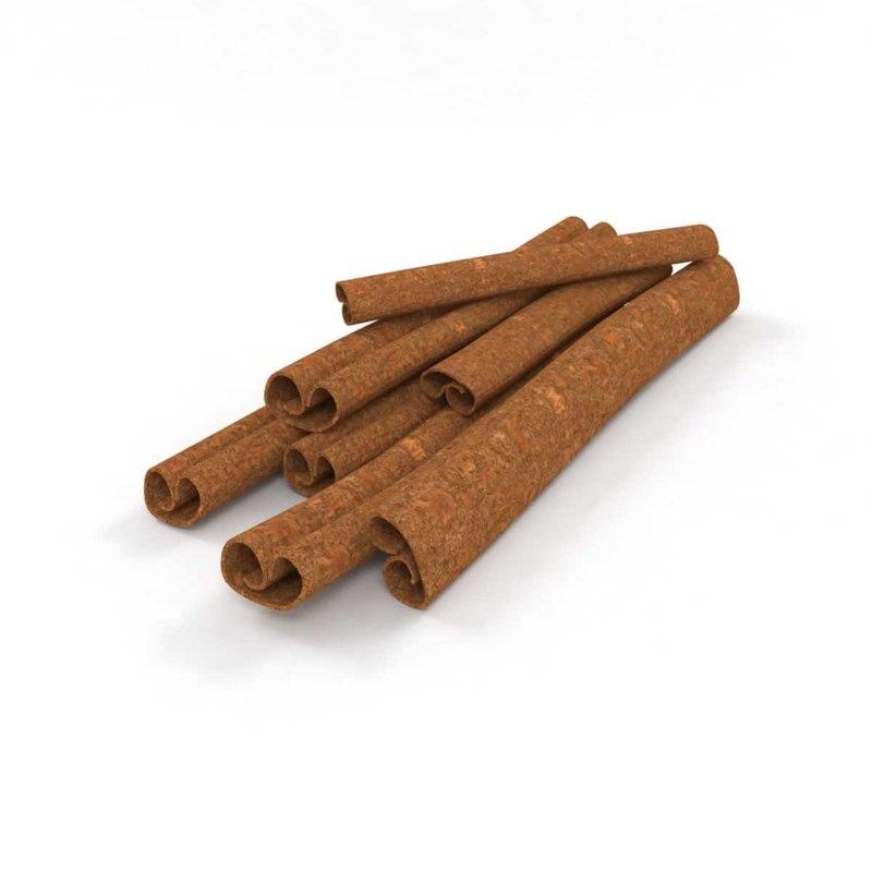 3D cinnamon coffee brown