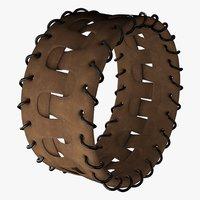 leather bracelet 3D