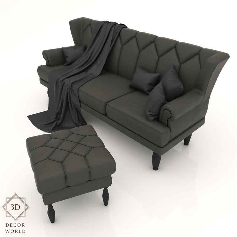 3D interior designs model