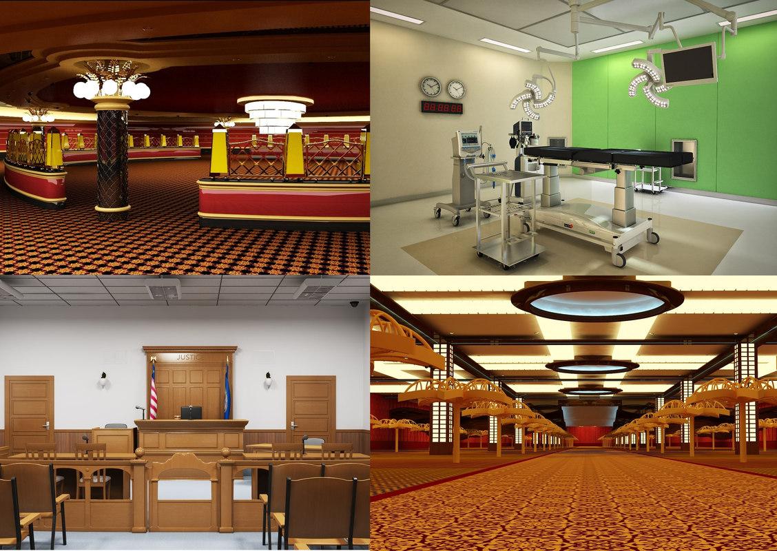 casino interior room 3D model