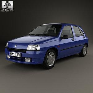 3D renault clio 1990