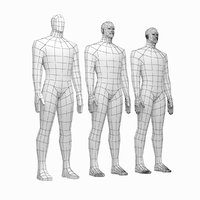 Male Hero Body Base Mesh in Rest Pose