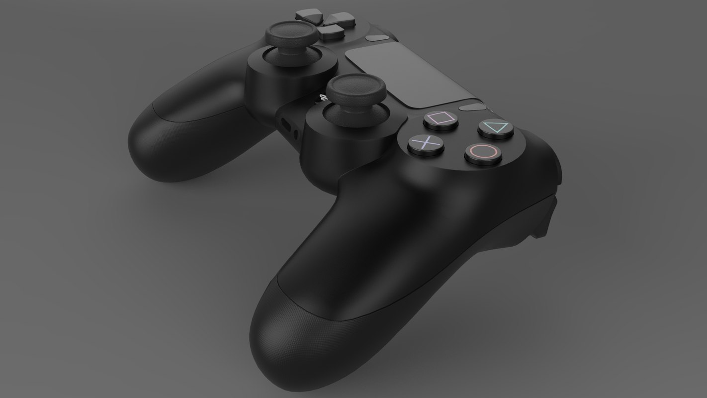 3D sony dualshock 4 model