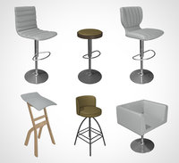 chair bar stool 001 3D