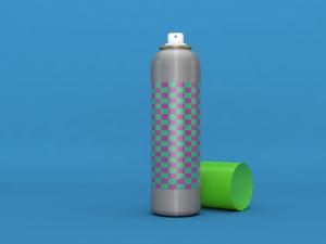 aerosol spray plastic 3D model