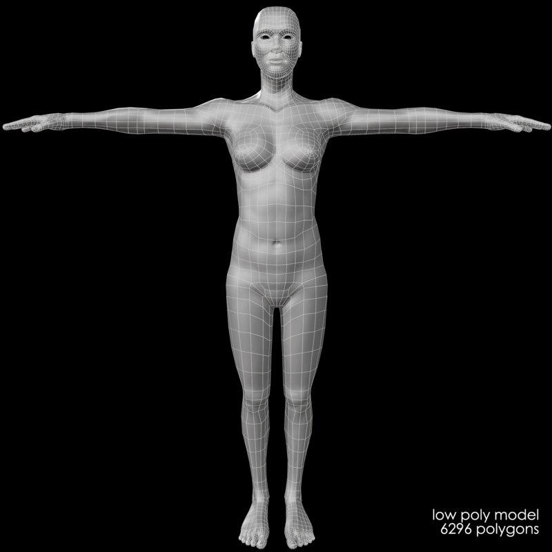 female body - base mesh model