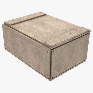 3D 2 wood box