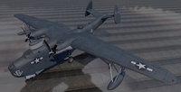3D plane martin pbm-5 mariner model