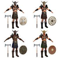 barbarians man shield model
