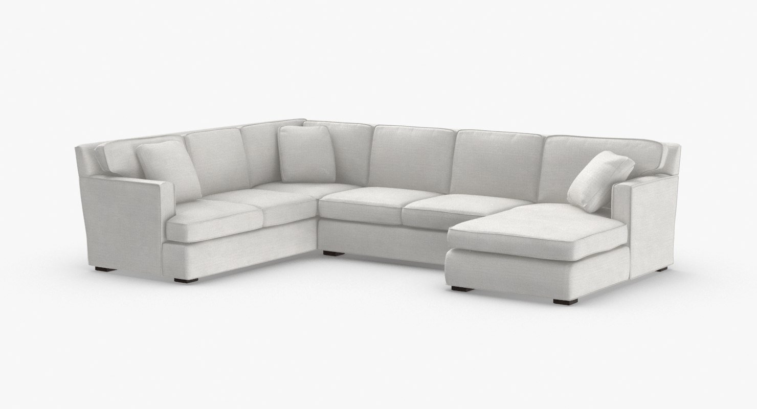 transitonal-sectional-sofa 3D model
