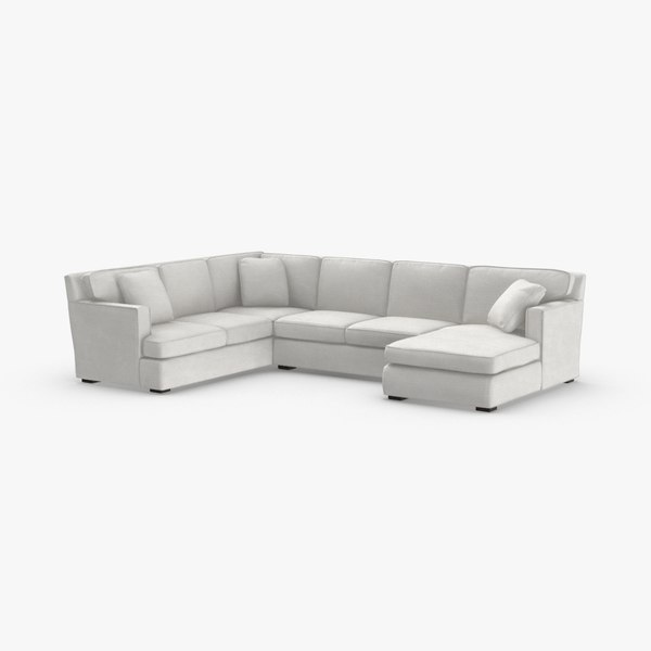 Groovy Sectional Sofa 3D Models For Download Turbosquid Machost Co Dining Chair Design Ideas Machostcouk