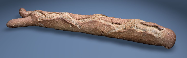 3D baguette bread