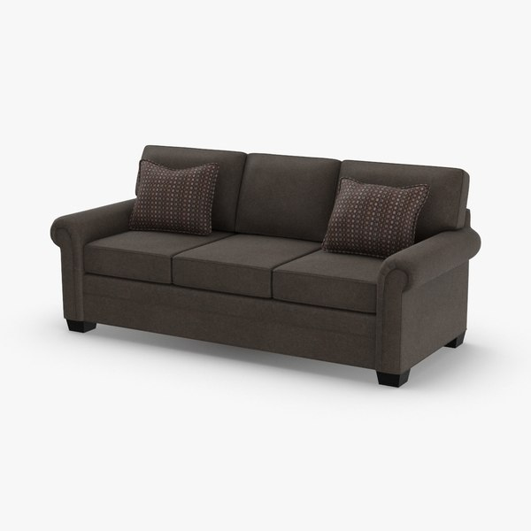 3D classical-3-seater-sofa model