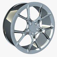 3D mid-poly rim bugatti chiron model