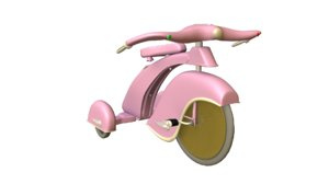retro tricycle 3D model