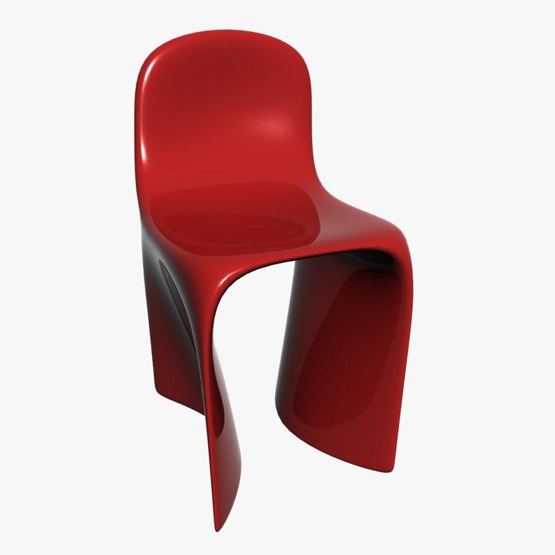 plastic chair 3D model