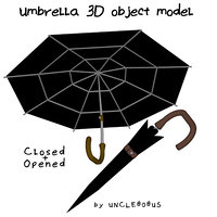3D umbrella object