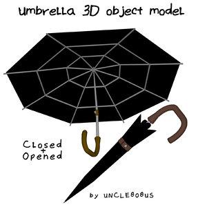 3D umbrella object