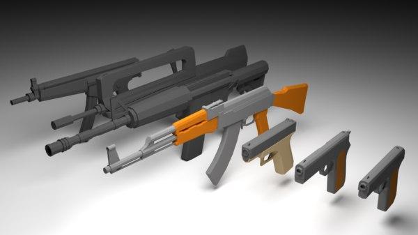guns blender 3D