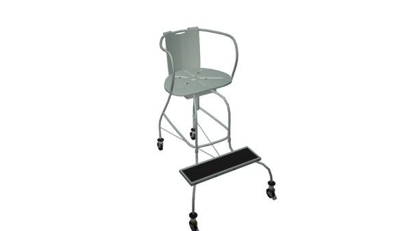 3D metal chair