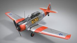 3D model north american t6