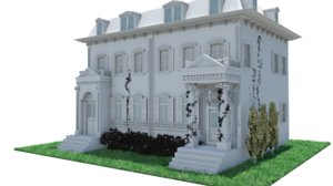 southern mansion 3D model
