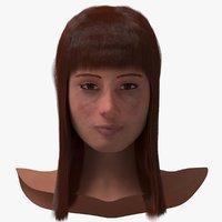 Female Head ( Rigged )