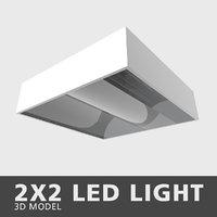 3D 2x2 led light