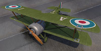 3D plane sopwith pup