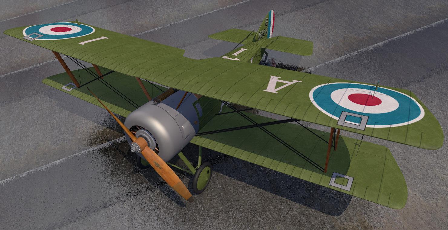3D plane sopwith pup