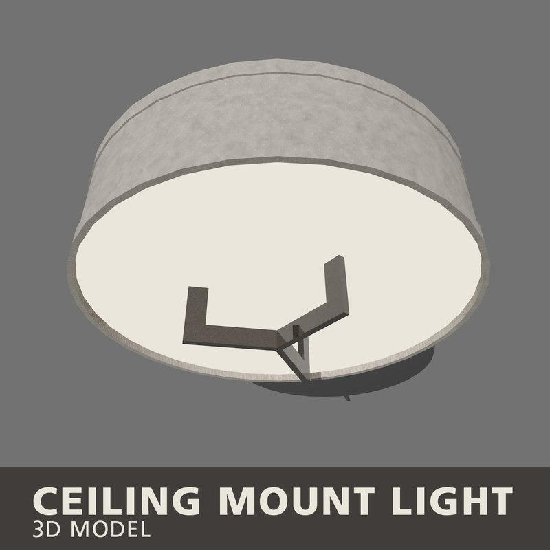 3D ceiling mount light