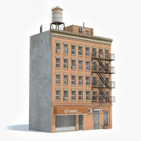 ready apartment building 3D model