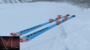 3D mountain ski