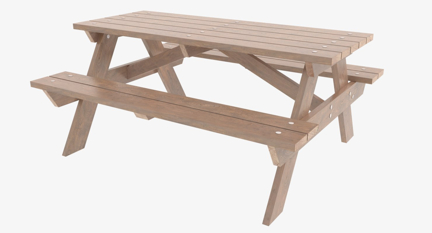 picnic table 3D
