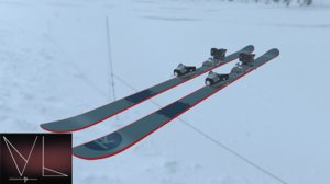 3D mountain skiing model