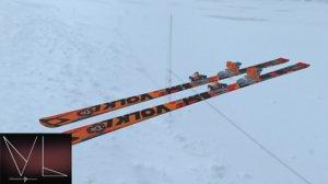 mountain ski colors 3D model