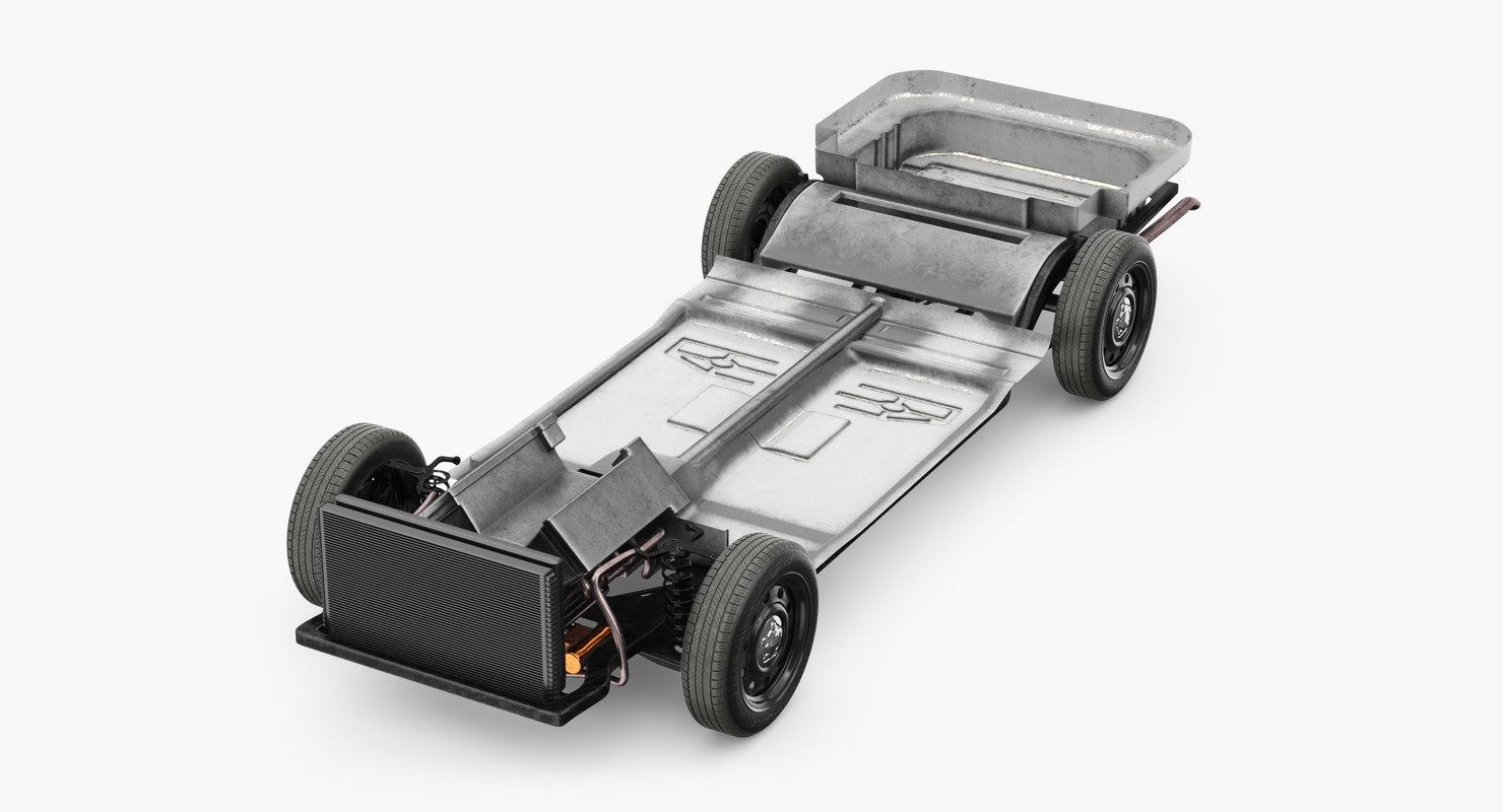 3D model chassis frame
