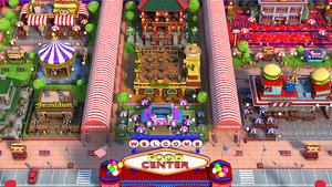 cartoon fast food 3D model