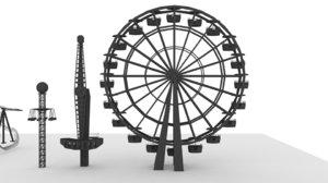 3D model roller coaster