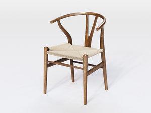 ch24 wishbone chair 3D model