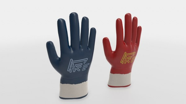 3D model ready gloves