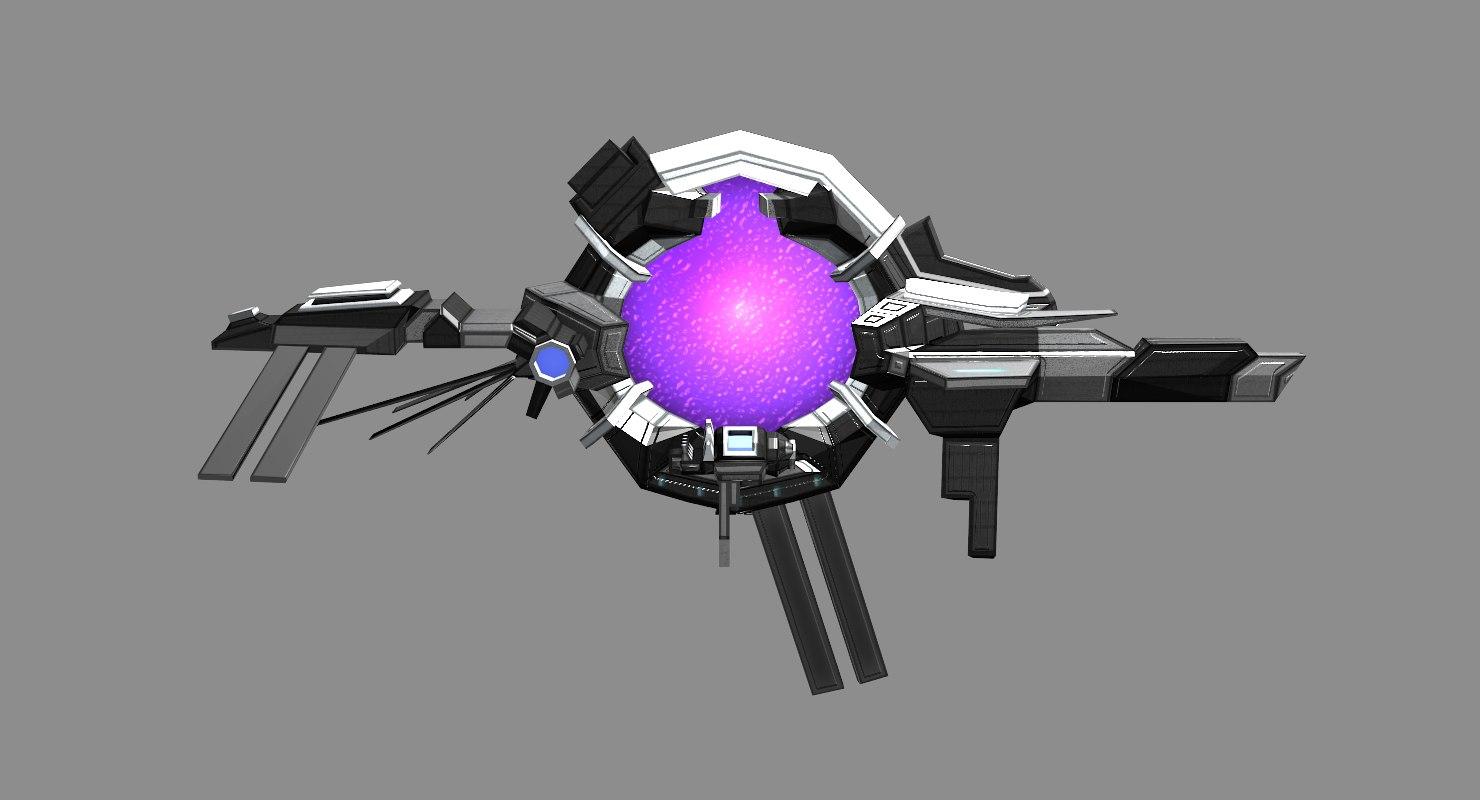 space stargate 3D model