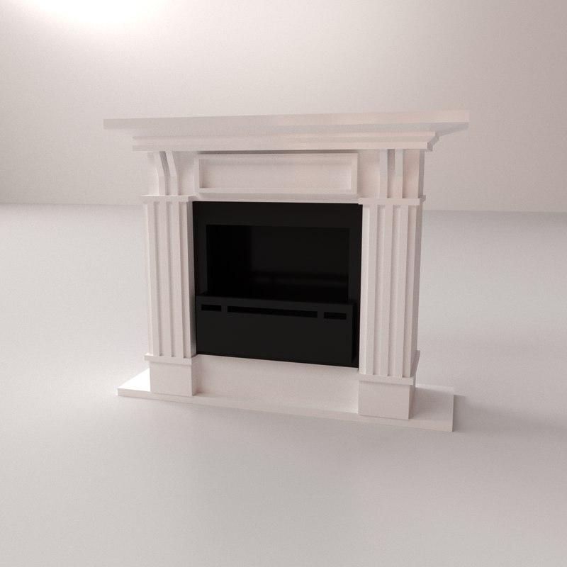 3D fireplace place
